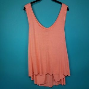 We The Free Coral Orange Flowy Tank